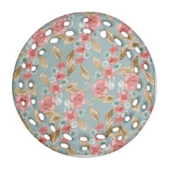 Background Page Template Floral Round Filigree Ornament (2side)