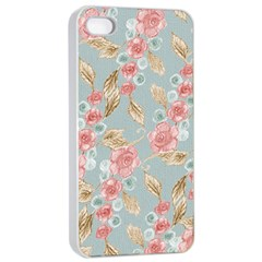 Background Page Template Floral Apple Iphone 4/4s Seamless Case (white)