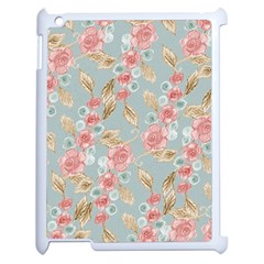 Background Page Template Floral Apple Ipad 2 Case (white)