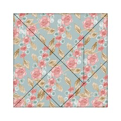 Background Page Template Floral Acrylic Tangram Puzzle (6  X 6 )