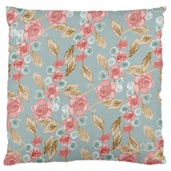 Background Page Template Floral Large Cushion Case (two Sides)
