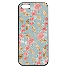 Background Page Template Floral Apple Iphone 5 Seamless Case (black)