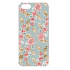 Background Page Template Floral Apple Iphone 5 Seamless Case (white)