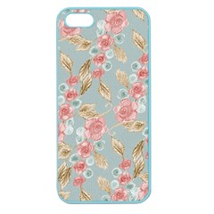 Background Page Template Floral Apple Seamless Iphone 5 Case (color)