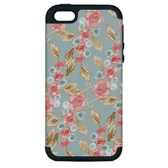 Background Page Template Floral Apple Iphone 5 Hardshell Case (pc+silicone)