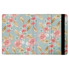 Background Page Template Floral Apple Ipad 3/4 Flip Case