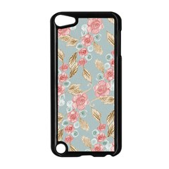 Background Page Template Floral Apple Ipod Touch 5 Case (black)