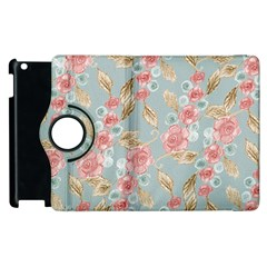 Background Page Template Floral Apple Ipad 2 Flip 360 Case