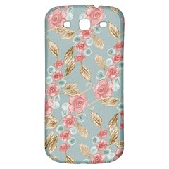 Background Page Template Floral Samsung Galaxy S3 S Iii Classic Hardshell Back Case
