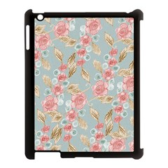 Background Page Template Floral Apple Ipad 3/4 Case (black)