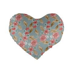 Background Page Template Floral Standard 16  Premium Heart Shape Cushions