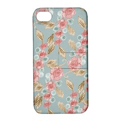 Background Page Template Floral Apple Iphone 4/4s Hardshell Case With Stand