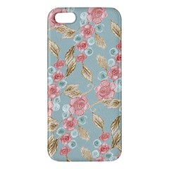 Background Page Template Floral Apple Iphone 5 Premium Hardshell Case