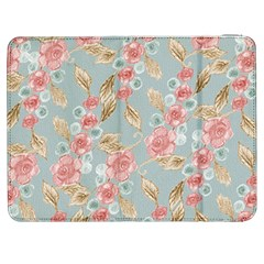 Background Page Template Floral Samsung Galaxy Tab 7  P1000 Flip Case