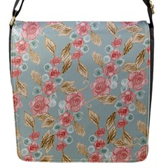 Background Page Template Floral Flap Messenger Bag (s)