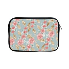Background Page Template Floral Apple Ipad Mini Zipper Cases