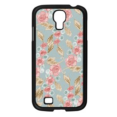 Background Page Template Floral Samsung Galaxy S4 I9500/ I9505 Case (black)