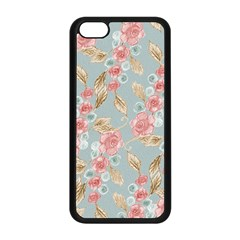 Background Page Template Floral Apple Iphone 5c Seamless Case (black)