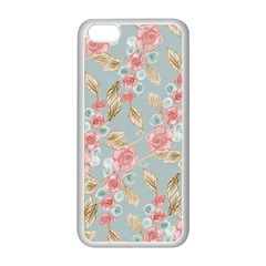 Background Page Template Floral Apple Iphone 5c Seamless Case (white)
