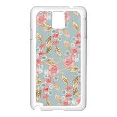 Background Page Template Floral Samsung Galaxy Note 3 N9005 Case (white)