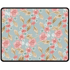 Background Page Template Floral Double Sided Fleece Blanket (medium)