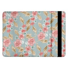 Background Page Template Floral Samsung Galaxy Tab Pro 12 2  Flip Case