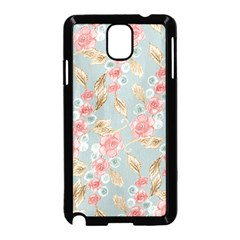 Background Page Template Floral Samsung Galaxy Note 3 Neo Hardshell Case (black)