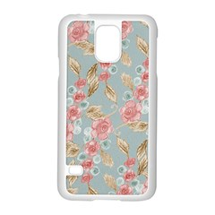 Background Page Template Floral Samsung Galaxy S5 Case (white)