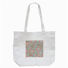 Background Page Template Floral Tote Bag (white)