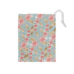 Background Page Template Floral Drawstring Pouches (medium)
