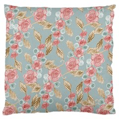 Background Page Template Floral Large Flano Cushion Case (Two Sides)