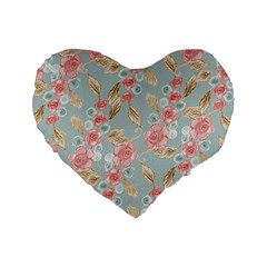 Background Page Template Floral Standard 16  Premium Flano Heart Shape Cushions