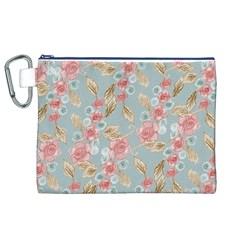 Background Page Template Floral Canvas Cosmetic Bag (xl)