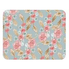 Background Page Template Floral Double Sided Flano Blanket (large)