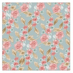 Background Page Template Floral Large Satin Scarf (square)