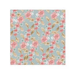 Background Page Template Floral Small Satin Scarf (square)