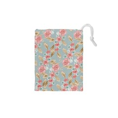 Background Page Template Floral Drawstring Pouches (xs)