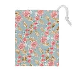 Background Page Template Floral Drawstring Pouches (extra Large)