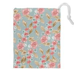 Background Page Template Floral Drawstring Pouches (xxl)
