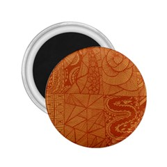 Burnt Amber Orange Brown Abstract 2 25  Magnets