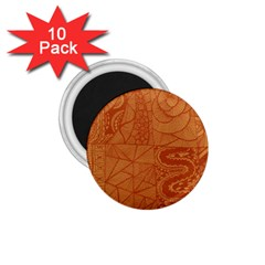 Burnt Amber Orange Brown Abstract 1.75  Magnets (10 pack)