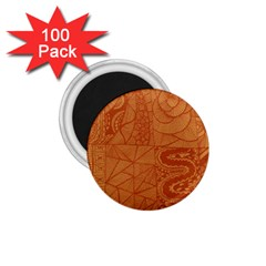 Burnt Amber Orange Brown Abstract 1 75  Magnets (100 Pack)