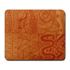 Burnt Amber Orange Brown Abstract Large Mousepads