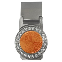 Burnt Amber Orange Brown Abstract Money Clips (CZ)