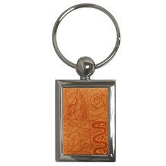 Burnt Amber Orange Brown Abstract Key Chains (rectangle)