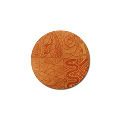 Burnt Amber Orange Brown Abstract Golf Ball Marker (10 Pack)