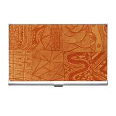 Burnt Amber Orange Brown Abstract Business Card Holders
