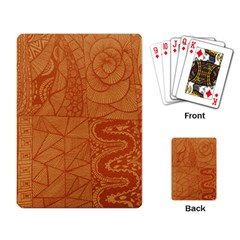 Burnt Amber Orange Brown Abstract Playing Card