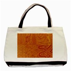 Burnt Amber Orange Brown Abstract Basic Tote Bag