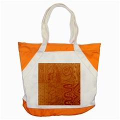 Burnt Amber Orange Brown Abstract Accent Tote Bag